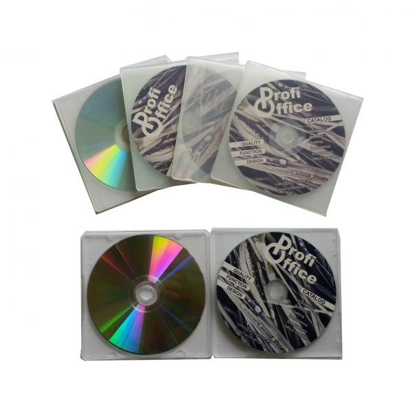 ProfiOffice 10 Doppel CD/DVD Hüllen, transparent 2 x 5 CD/DVD Hüllen