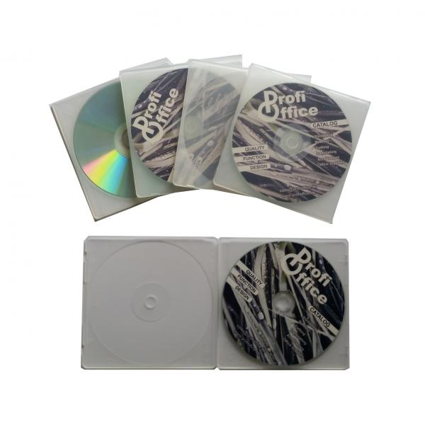 Profioffice 25 CD/DVD Hüllen, transparent 2 x 5 CD/DVD Hüllen